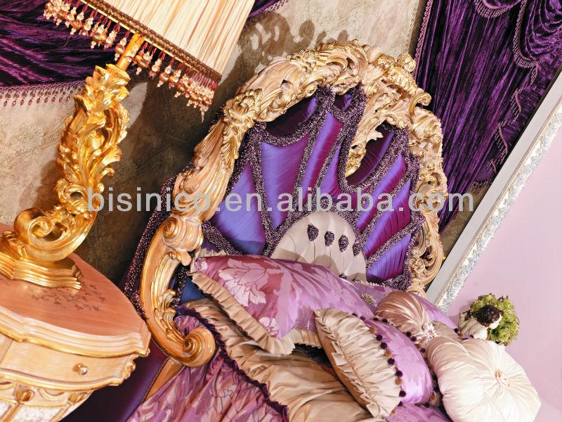 Bisini Handcarved Luxury Bedroom Set High End Italian Bed Furniture