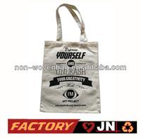 Hot Sale Custom Made Organic Canvas Bag, 10oz Canvas Cotton Tote Bag
