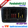 2 din touch screen gps bluetooth tv usb can bus android car dvd player VW polo