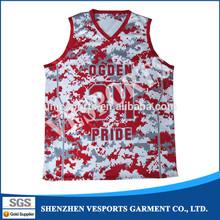 Custom sublimated basketball tops