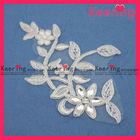 Hot ,flower neckline ruched wedding dress WLS-482