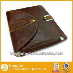 2014 new vintage portable leather case for ipad mini, belt clip case for ipad mini, wrist strap case for ipad mini