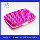 Newest design metal card case with bling crystal style