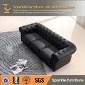 clásica chesterfield sofá de cuero moderno mobiliariodesala