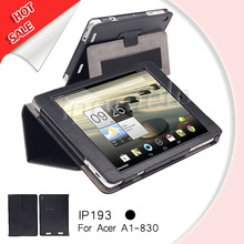 good durable pu leather case for acer A1-830 standable with Hand guard function