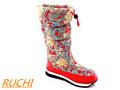 2014 quente! Red wmen botas de neve/couro de vaca mulheres botas de neve/rc8071