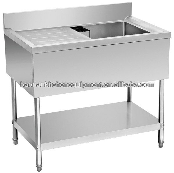 ... Stainless Steel Table With Right Side Sink,Prep Table Sink Unit,Sink