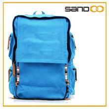 2014 latest fashion canvas school backpack, hot sale nice teens school bags