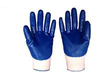 13 gauge black nitrile coated work gloves