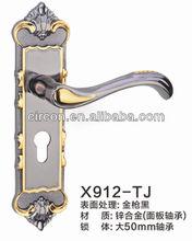 X9 series zinc alloy metal mortise door handle lock panel for timber door,home hardware