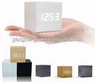 Newest portable LED wooden alarm clock ,carpet alarm clock
