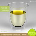 resistente al calor de vidrio tazas de té y placas