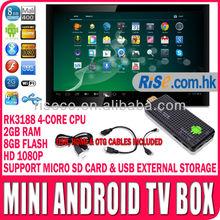 Smart Android TV Box Mini PC MK809III WIFI RK3188 HD 1080p TV programmes movies