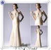 LF0112 Sexy low cut mermaid Flowing chiffon beach wedding Suzhou wedding dresses