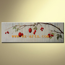 Handmade Canvas Fruit Oil Painting of Cherry for Wall Arts