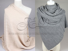 Woman Multifunctional Magic Knitting Horn Button Wide Cashmere Shawl