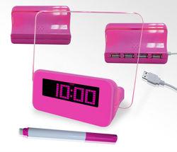 Snooze light alarm desk clock