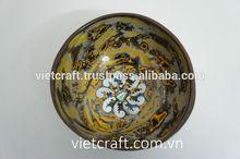 high quality art lacquer coconut bowl non toxic, ecofriendly