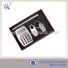 Business Usage Calculator Key Ring Metal Pen Set