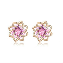 8221 new design hot sale crystal earring flower stud earring