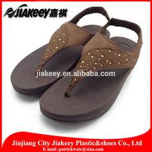 Party wear rhinestone diamond slingback cheap women wedge heels PU kolhapuri ladies chappal manufactuer in Jinjiang Fujian China