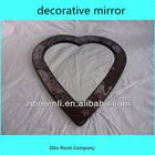 Living Room Ruby Heart Shape Wall Craft Crackle Glass Mosaic Art Deco Mirror