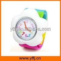 Fashion cartoon design silicone slap wristband watch on sales