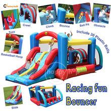 Happy Hop 9163--giant combo inflatable bouncer castle slide