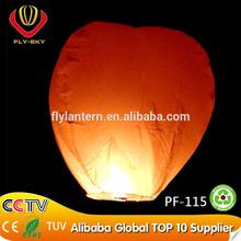 2015 Wholesale eco fly sky lantern decorations for wedding