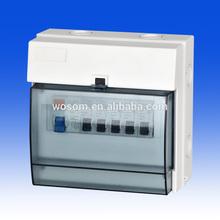 Weatherproof Plastic distribution box IP65 enclosure 8 module oudoor using waterproof