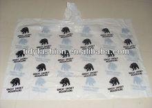 Full printing top quality PE rain poncho