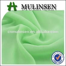 Mulinsen Textile High Quality Light Weight Polyester 15D ITY Chiffon Plain Saree Fabric
