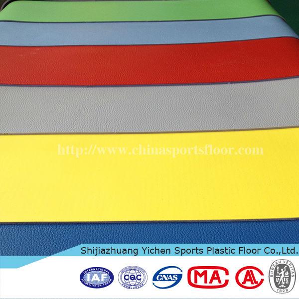 Yichen PVC Vinyl Flooring Roll/pvc sports flooring/gym flooring