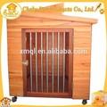 stainsteel porta de madeira animal de estimação com roda para cães de grande porte