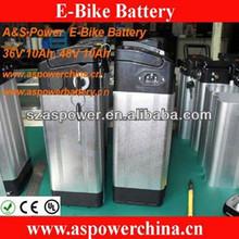 China alu case li-ion e bike battery 36v 10ah 48v 20ah