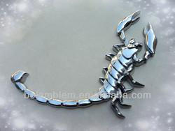 ABS Plastic chrome scorpion car emblem