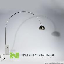 LP258 Replica white marble Achille Castiglioni F ARC Floor Lamp