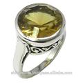 Sitrin taş yüzük, 925 gümüş taş takı, toptan 925 gümüş takı