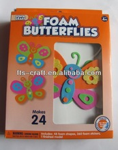 EVA Foam Butterflies Kids Craft Kits 24pk 2mm thickness with adhesive