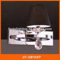 ผ้าสีดำที่เหมาะสมโคมไฟติดผนังข้างเตียงไฟฟ้าyc-58109p