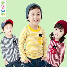 Children Unisex Woven Long Sleeve Undershirt Fancy T Shirt