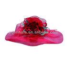 Large Brim Sinamay Sun Hat Organza Church Hats