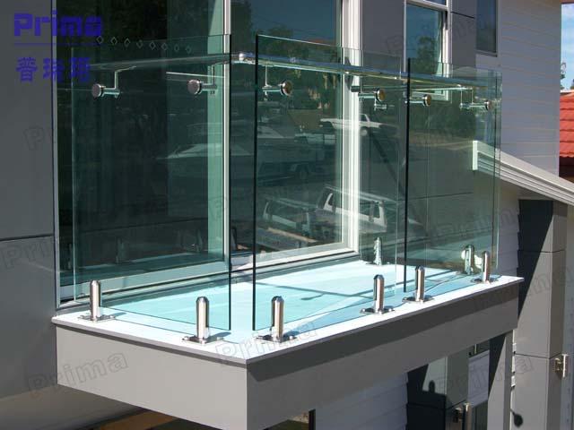 Balcony railing glass images.