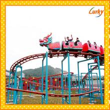 Professional manufacturer amusement rides roller coaster adult,Electric racing adult and kid loved roller coaster sliding dragon