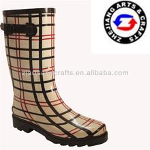 Wellingtons with buckle lightweight comfort heel shoe for women