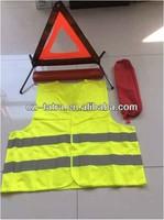Car safety kit, emergency kit, warning triangle