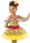 Sharp Yellow Rainbow Sequin Recital Dress Stage Costume