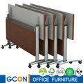 Mesa de madera plegable con marco flexible de acero inoxidable