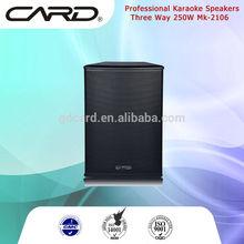 250W 3 way mid range 6 drivers commercial use karaoke speaker