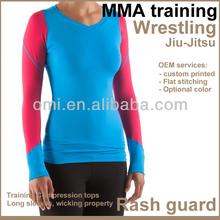 Rashguard sportswear Technical top lycra mma rashguard